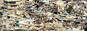 Devastation in Haiti after the earthquake