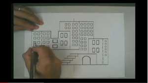 video of a paper cutout city