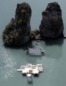 cinema on rafts in Thailand by Buro Ole Scheeren