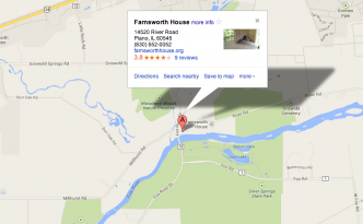 Farnsworth House map