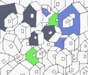 Houses colored